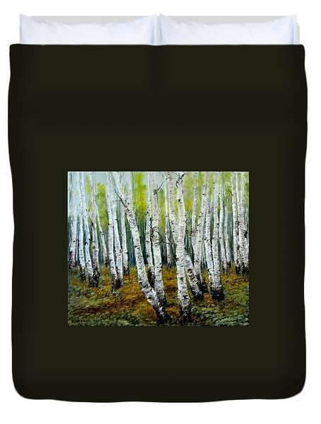 Birch Trail Duvet Cover