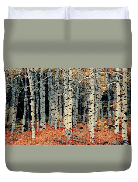 Birch Tree Forest 1 Duvet Cover