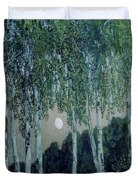Birch Trees Duvet Cover by Aleksandr Jakovlevic Golovin