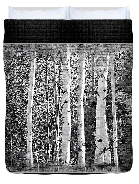 Duvet Cover featuring the photograph Birch Trees by Susan Kinney