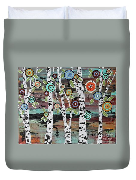 Birch Woods Duvet Cover by Karla Gerard