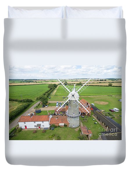 Bircham Windmill Duvet Cover by Steev Stamford