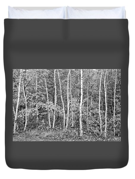 Duvet Cover featuring the photograph Birches Acadia 1995 by Peter J Sucy