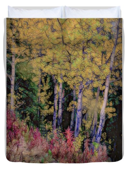 Birches At The Perch #1 Duvet Cover