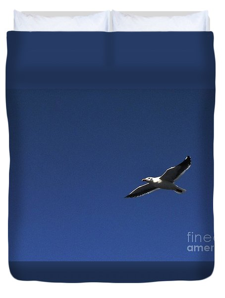 Duvet Cover featuring the photograph Bird by Angela J Wright