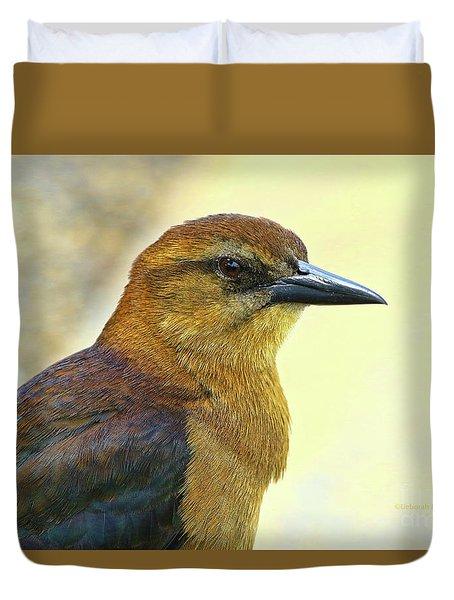 Duvet Cover featuring the photograph Bird Beauty by Deborah Benoit