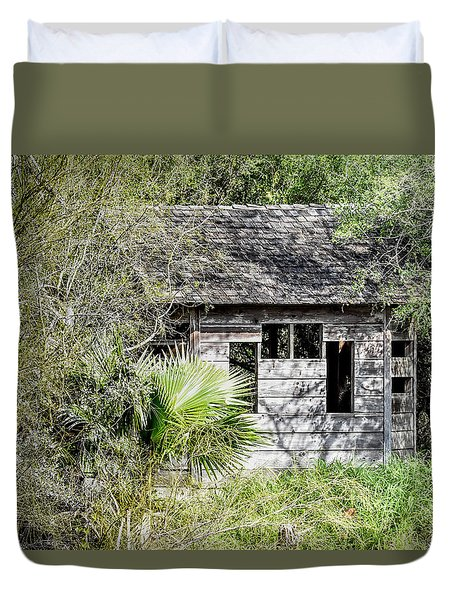 Bird Blind At Frontera Audubon Duvet Cover