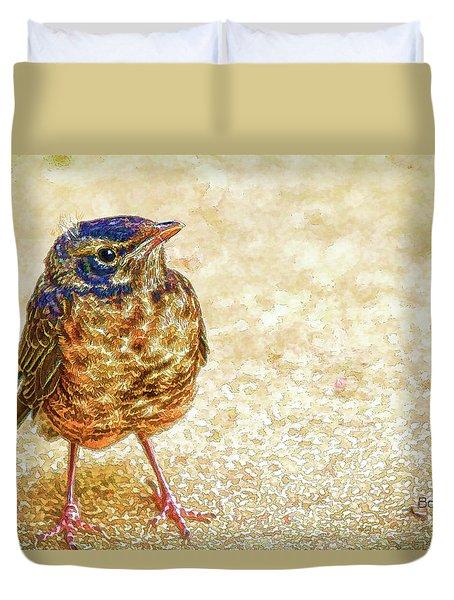 Bird Duvet Cover by Bonnie Willis
