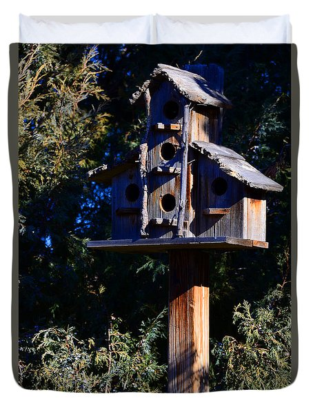 Bird Condos Duvet Cover