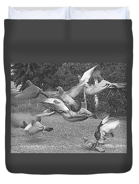 Bird Flurry Duvet Cover