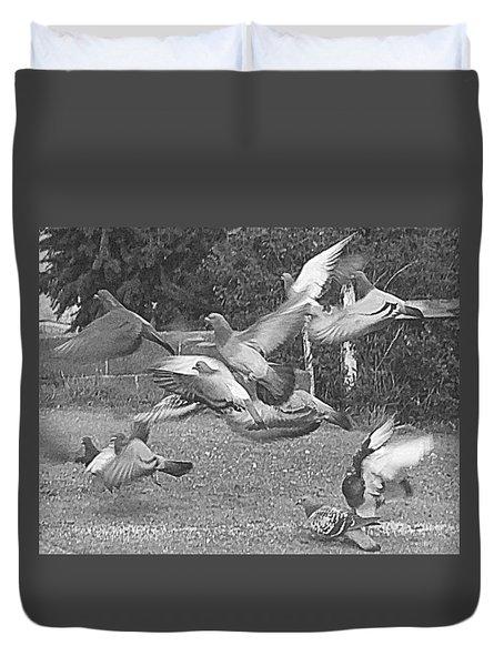 Bird Flurry Duvet Cover by Suzy Piatt
