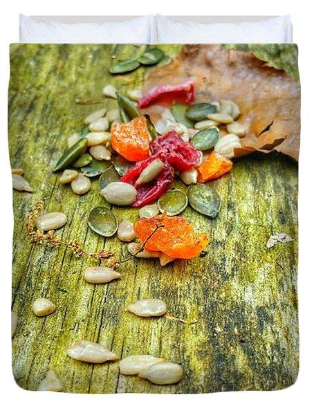 Bird Food Duvet Cover by Isabella F Abbie Shores FRSA