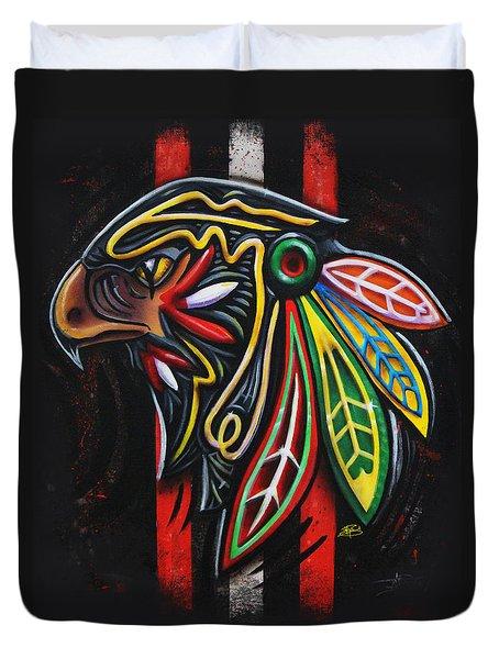 Bird Head Duvet Cover by Michael Figueroa