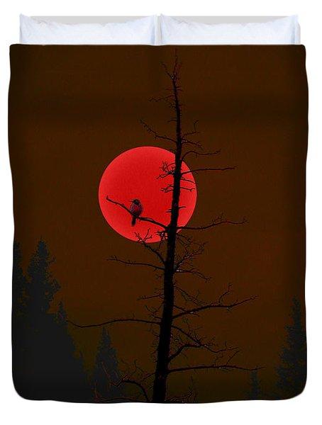 Bird In A Tree Duvet Cover by Stuart Turnbull