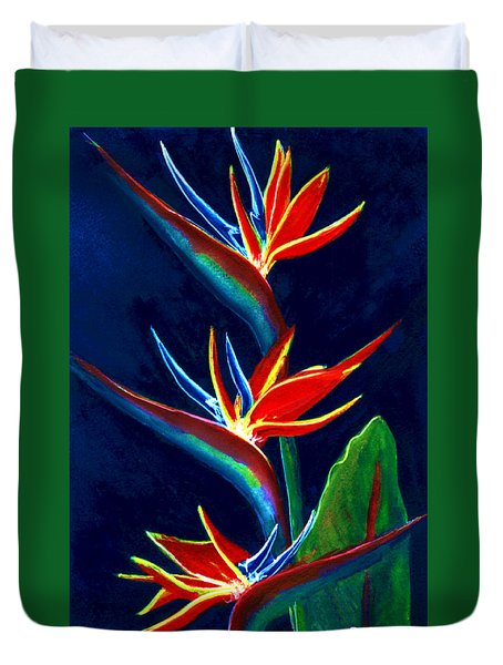 Bird Of Paradise #161 Duvet Cover by Donald k Hall