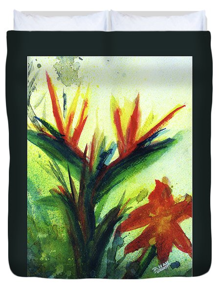 Bird Of Paradise, #177 Duvet Cover by Donald k Hall