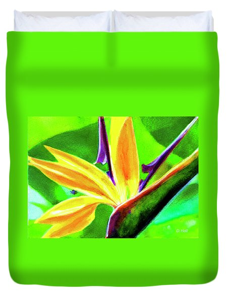 Bird Of Paradise #262 Duvet Cover by Donald k Hall