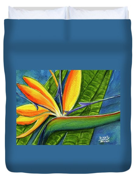Bird Of Paradise #300b Duvet Cover by Donald k Hall
