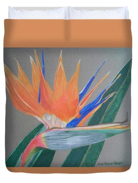 Bird Of Paradise Duvet Cover by Anita Putman