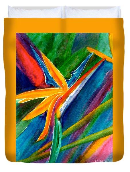 Bird Of Paradise Flower #66 Duvet Cover by Donald k Hall