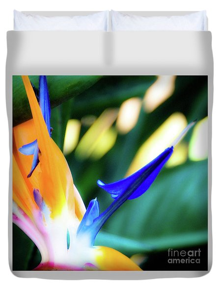 Duvet Cover featuring the photograph Bird Of Paradise Flower by D Davila