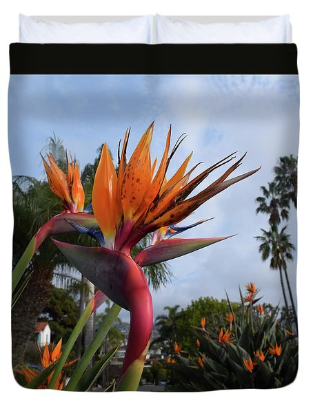 Bird Of Paradise Peace And Joy Duvet Cover