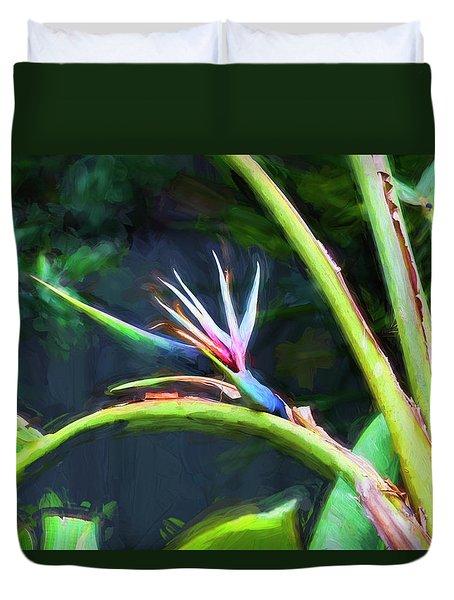 Bird Of Paradise Strelitzia Reginae 003 Duvet Cover