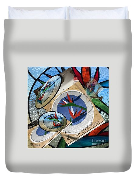 Bird Of Pardise Starling Saver Duvet Cover