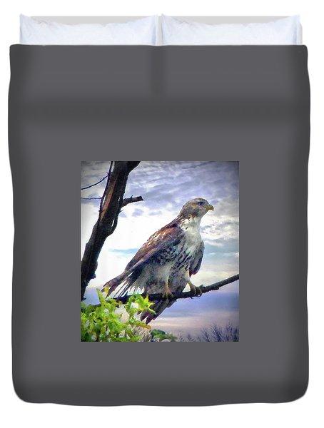 Bird Of Prey Duvet Cover by Cedric Hampton