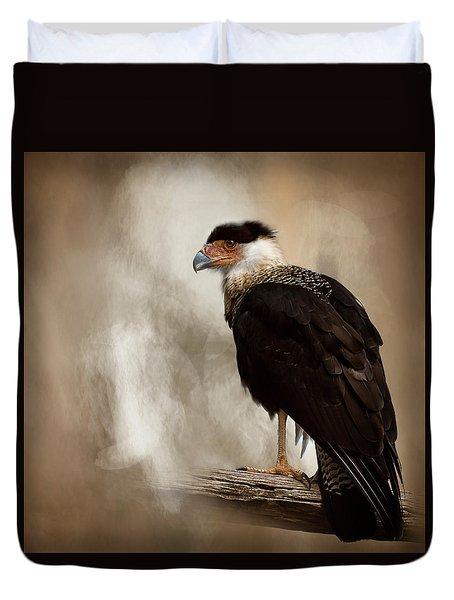 Bird Of Prey Duvet Cover by Cyndy Doty