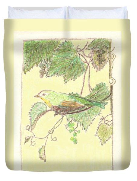 Bird On A Branch Duvet Cover