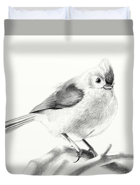 Bird On A Branch Duvet Cover by Eleonora Perlic