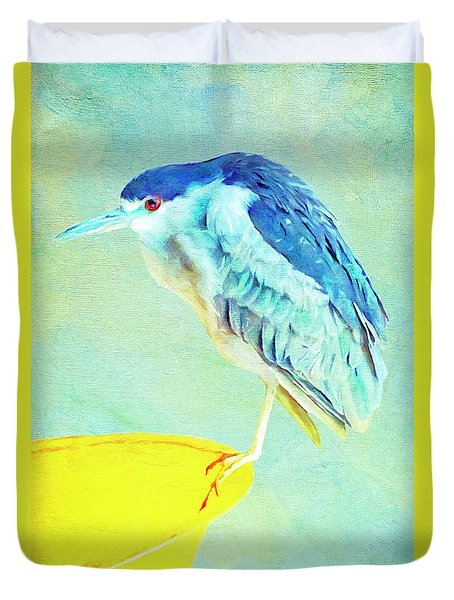 Bird On A Chair Duvet Cover