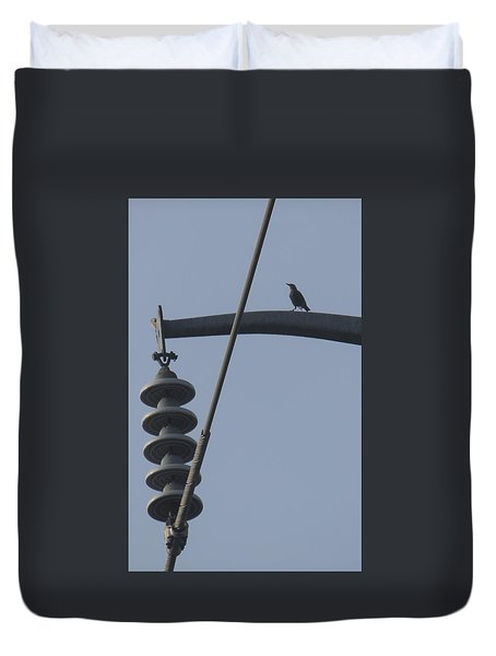 Bird On A High Wire Duvet Cover