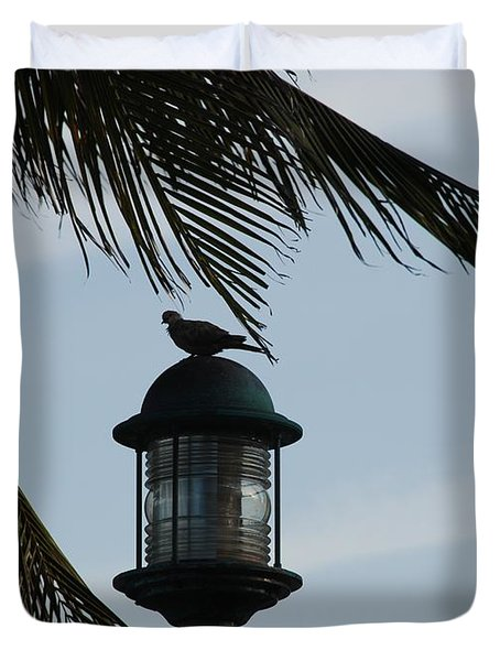 Bird On A Light Duvet Cover by Rob Hans