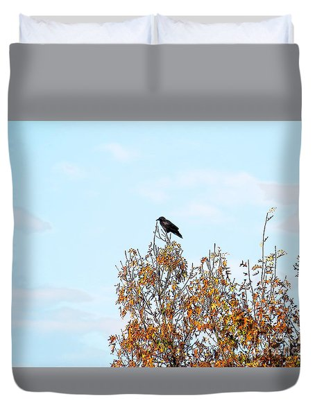Bird On Tree Duvet Cover by Craig Walters