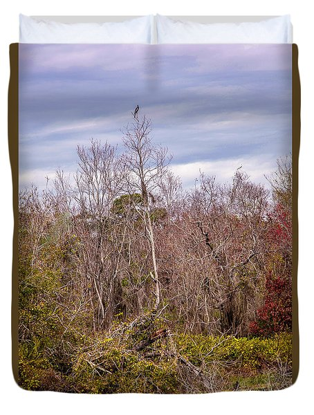 Duvet Cover featuring the photograph Bird Out On A Limb 3 by Madeline Ellis