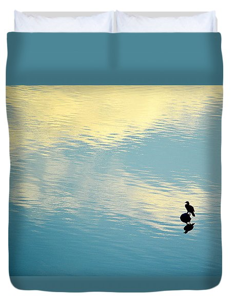 Bird Reflection Duvet Cover