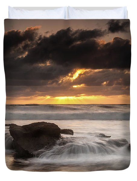 Bird Rock Clearing Storm Duvet Cover