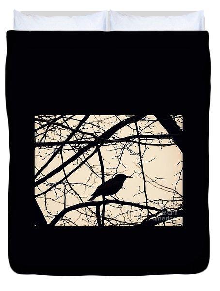 Bird Silhouette Duvet Cover by Sarah Loft