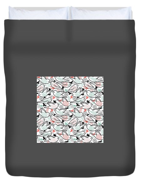 Bird Solid Duvet Cover by Elizabeth Taylor
