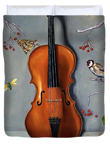 Bird Song Duvet Cover by Leah Saulnier The Painting Maniac