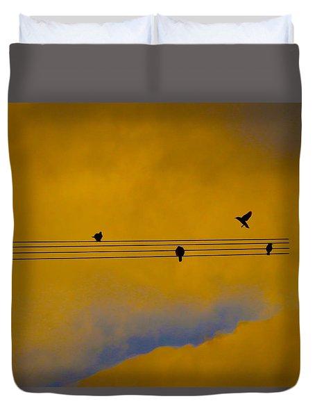 Bird Song Duvet Cover by Mark Blauhoefer