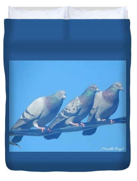 Bird Trio Duvet Cover