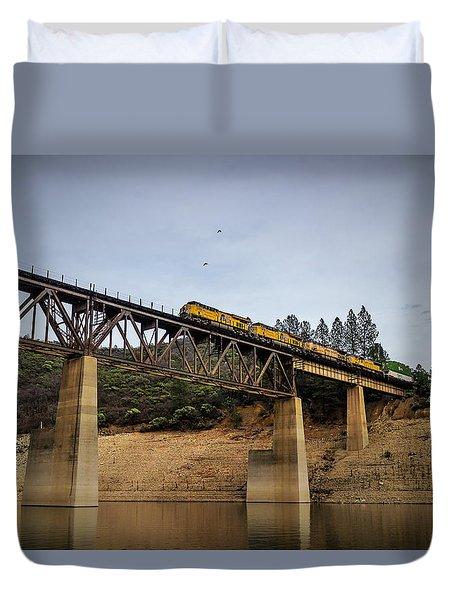 Bird Vs Train Duvet Cover