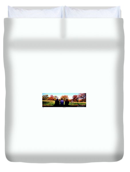 Bird Watchers Bench Fall Crabtree Nature Center Cook  Duvet Cover