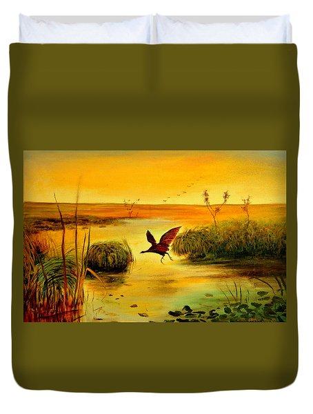 Bird Water Duvet Cover