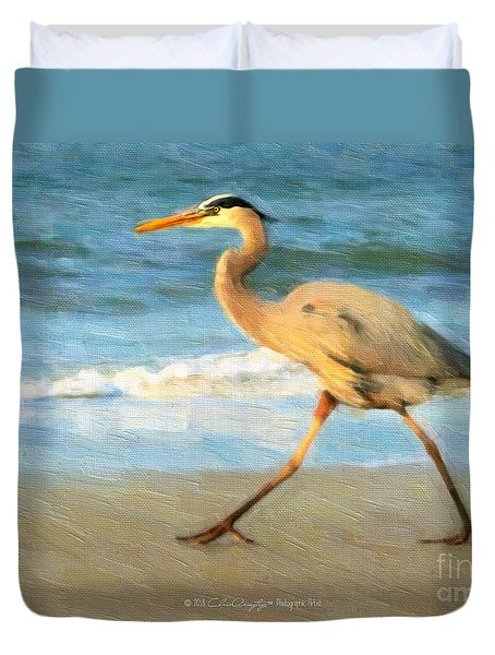Bird With A Purpose Duvet Cover
