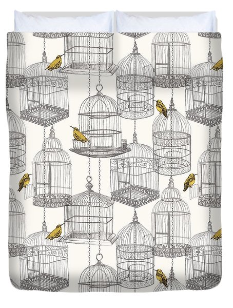 Birdcages Duvet Cover by Stephanie Davies