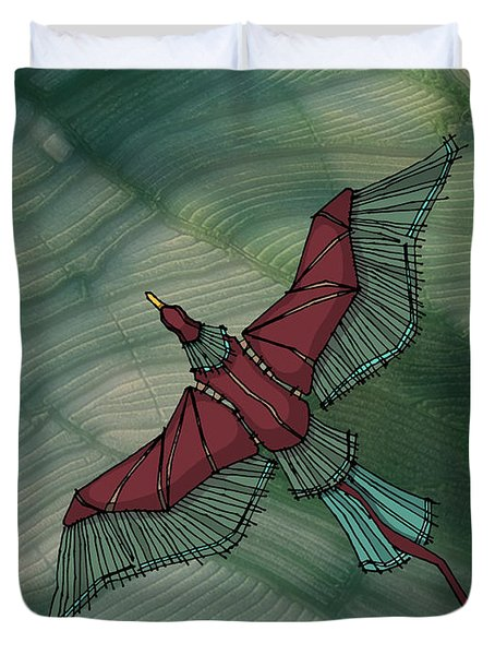birdEYE volcano III Duvet Cover